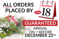 Shipping Cut off times for Christmas